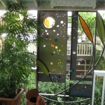 metal and glass privacy screen